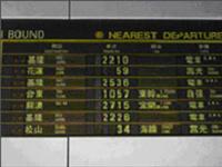 圖貳-19 臺北站列車開車時刻自動顯示裝置TIDS