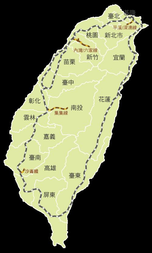 臺灣鐵路地圖