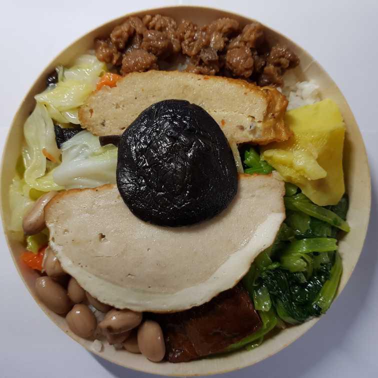 臺鐵素食便當(圓盒)