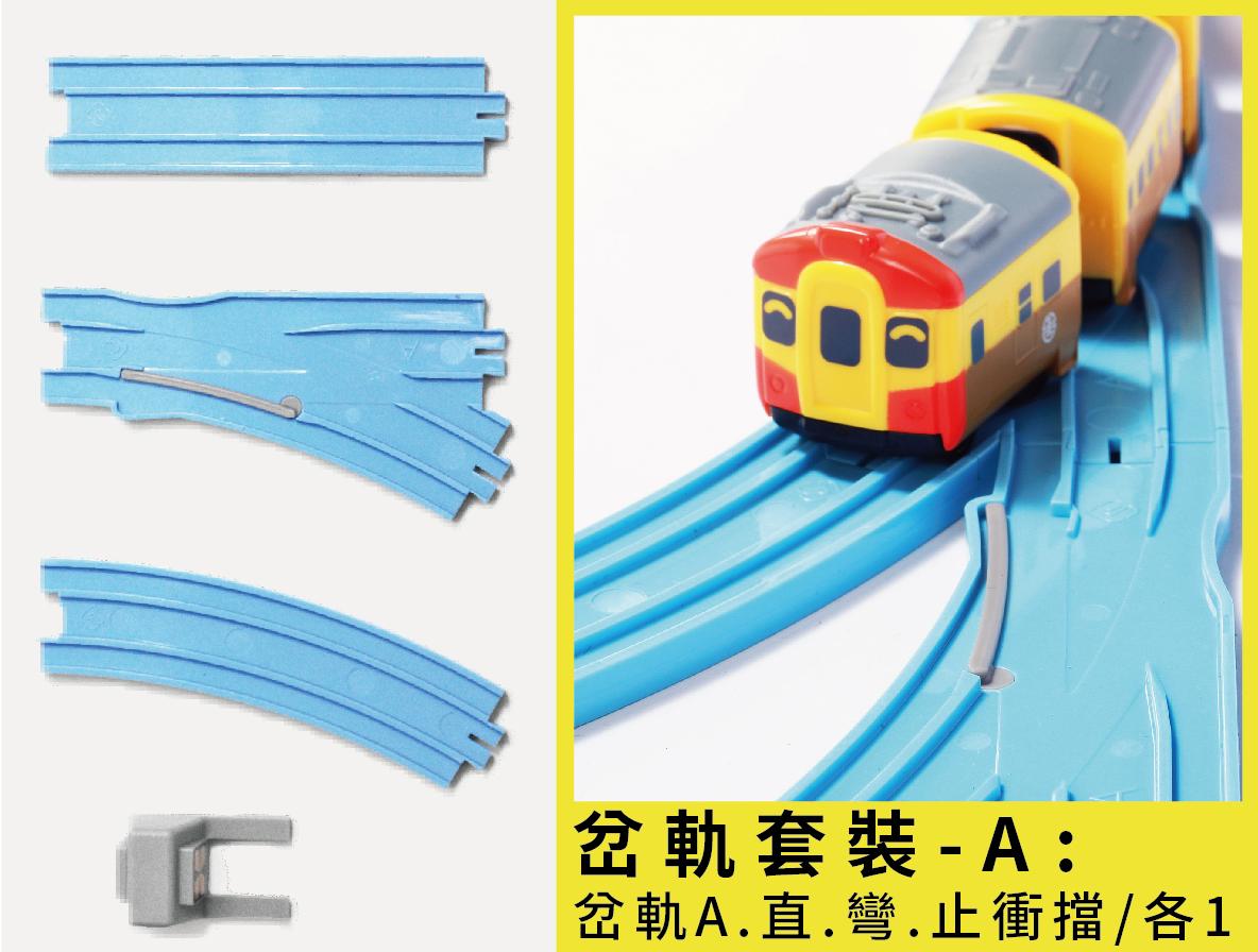 迴力小火車通用軌道(岔軌組A)圖片共5張