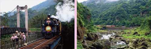 鐵道旅遊情境圖