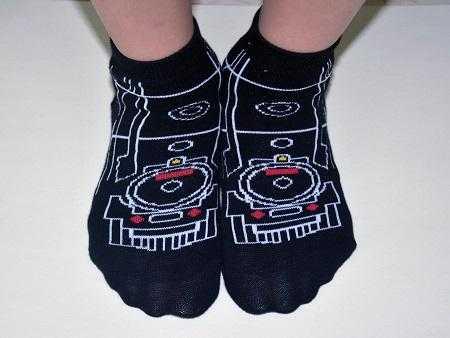 蒸氣車童襪圖片共2張