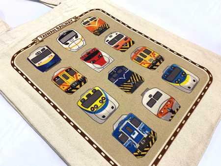 鐵道車輛主題環保帆布袋