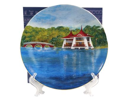 瓷盤-台中公園湖心亭