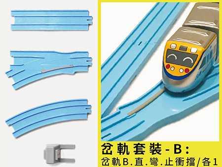 迴力小火車通用軌道(岔軌組B)圖片共5張