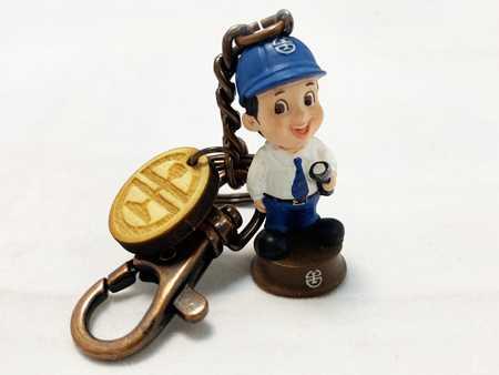 台鐵人物鑰匙圈-電務員