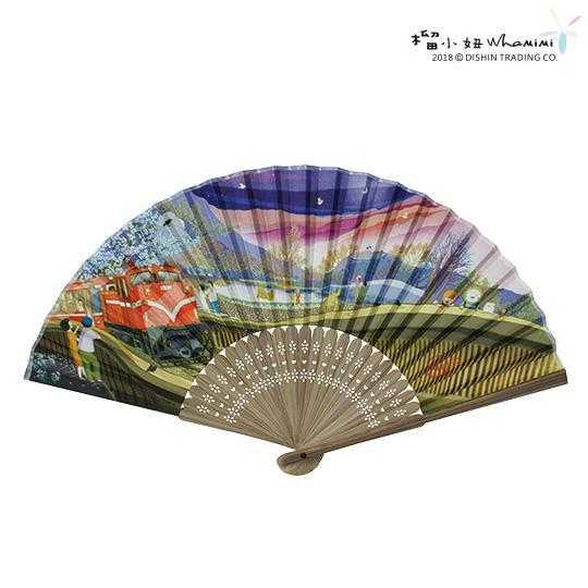 台灣美食美景竹扇