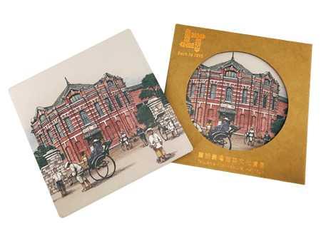 杯墊-台北新起街市場八角堂(紅樓)