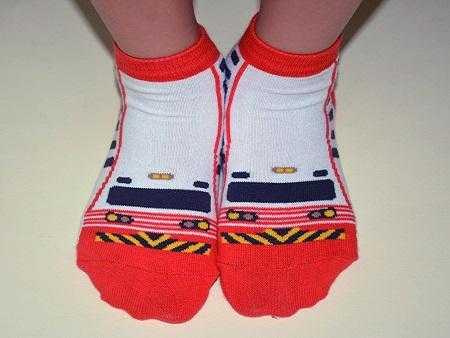 紅斑馬童襪